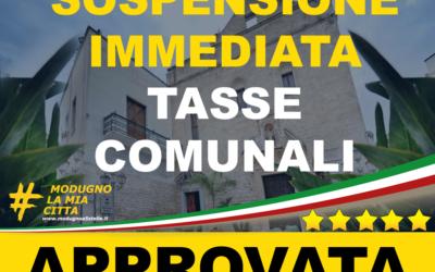 Richiesta sospensione tasse comunali