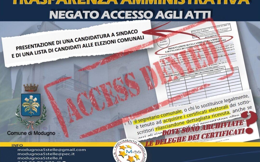 Accesso agli atti elettorali Negato