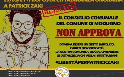 Cittadinanza onoraria (negata) a Patrick Zaki